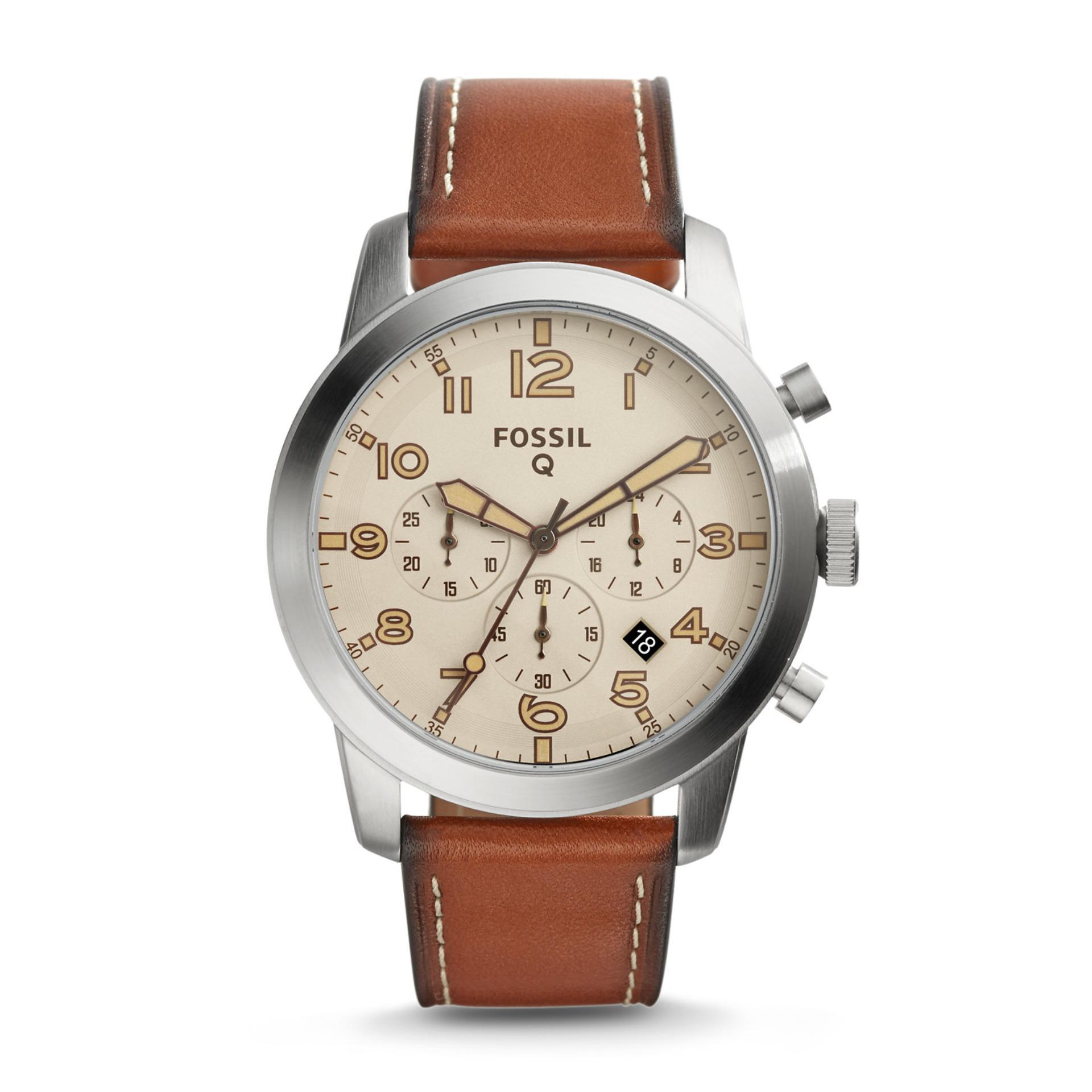 ... Fossil Gen 1 Smartwatch Q54 Pilot Leather Strap FTW10051 ...