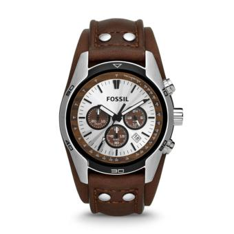 Fossil Jam Tangan Pria Fossil CH2565 Coachman Chronograph Brown Leather Watch