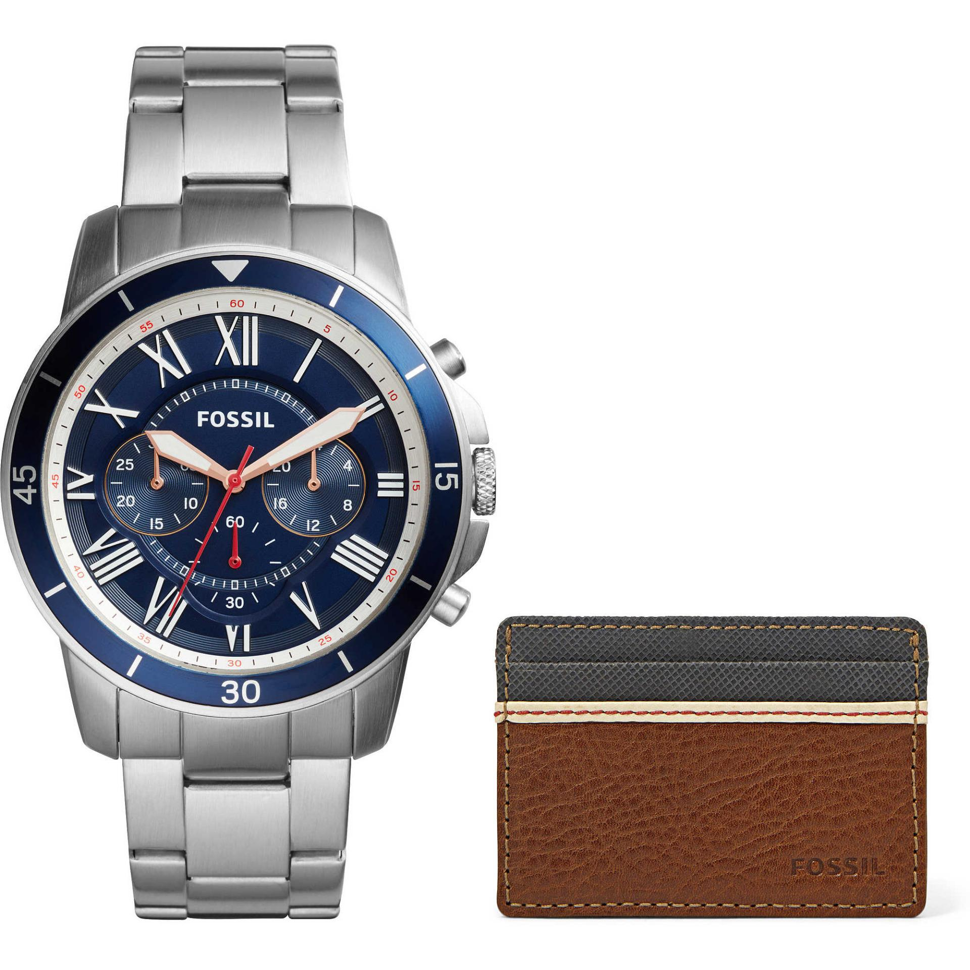Fossil Fs5230 Grant Chronograph Blue Tone Dial Stainless Steel Jam Ch2600 Tangan Pria Hitam Fs5336set Sport Watch And