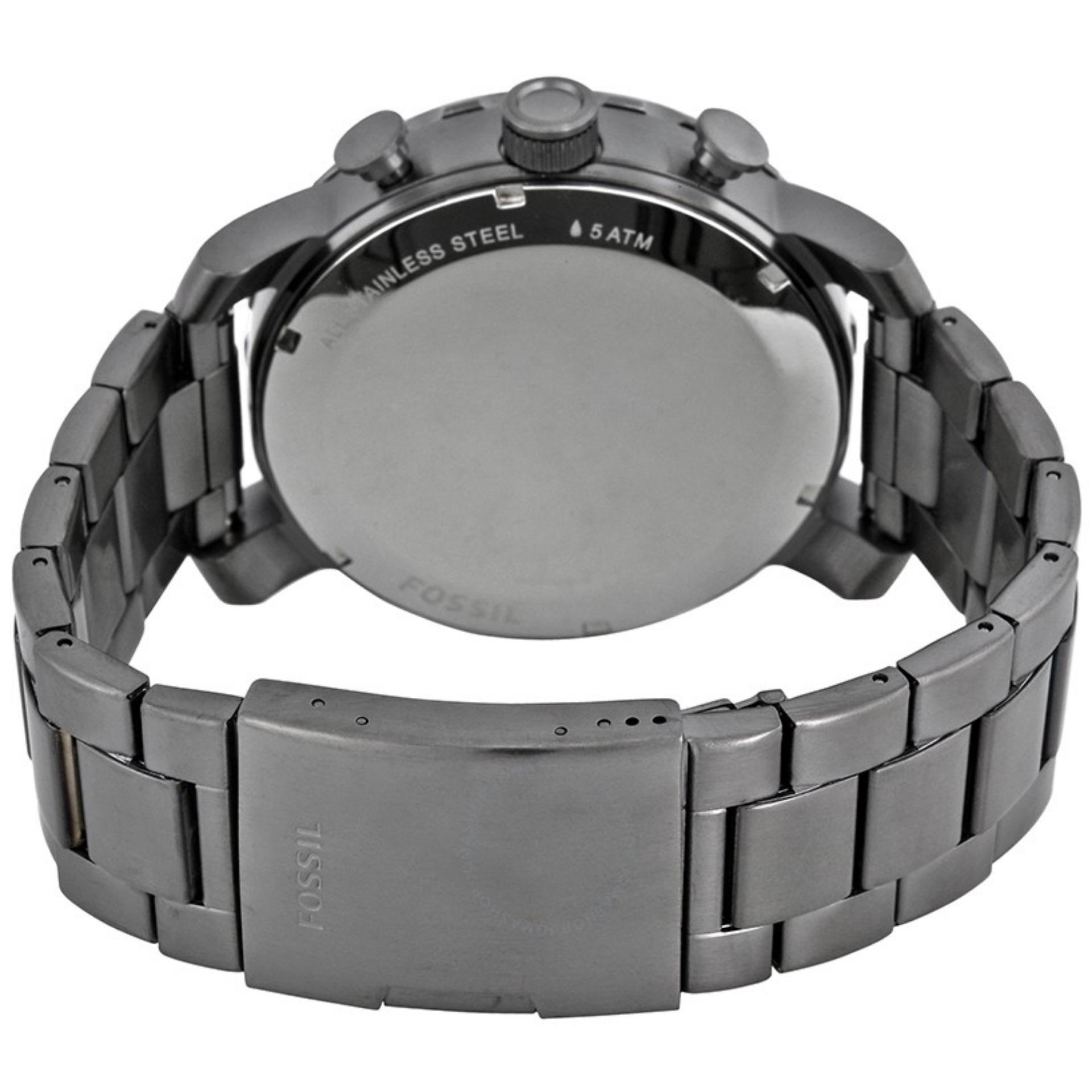 Fossil Jam Tangan Pria Jr1401 Nate Chronograph Black Jr1494 Stainless Steel Bracelet Hitam Jr1437 Smokestainless Watch