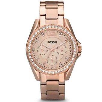harga Fossil Jam Tangan Wanita Fossil ES2811 Riley MultifunctionRose-Tone Stainless Steel Watch Lazada.co.id