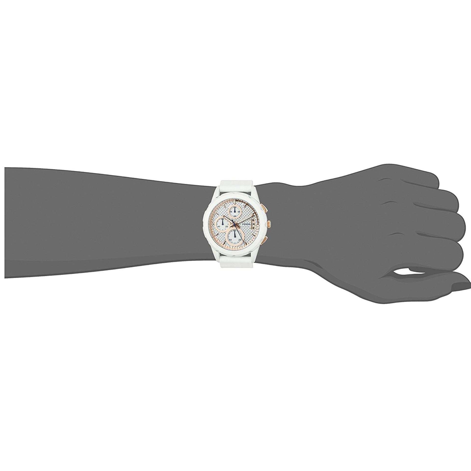 Fossil Modern Pursuit Chronograph White Silicone Watch, ES 3981 .