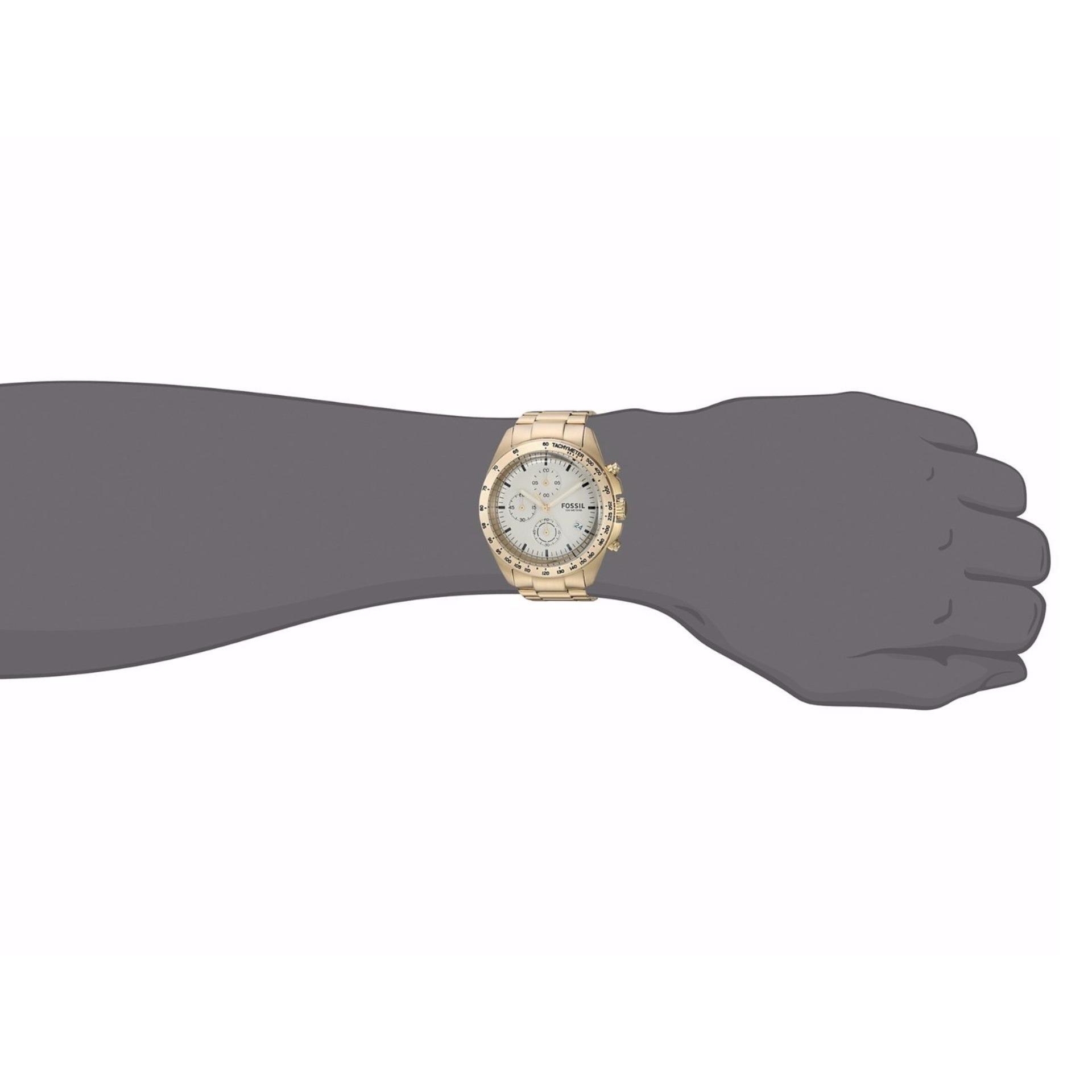 Home; Perhiasan; Jam tangan. Fossil Sport 54 Chronograph Gold-Tone Stainless Steel Watch, CH 3037 ...