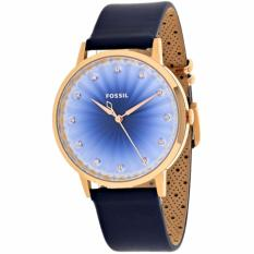 Fossil Vintage Muse Blue Leather Watch, ES 4189