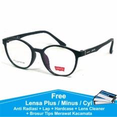 Frame Kacamata Wanita Bulat Levis 3112 Hitam Bisa Dipasang Lensa Minus Di Optik Terdekat