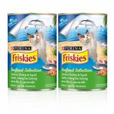 Friskies Wet Seafood Selection Can 400 gr x 2 Pcs