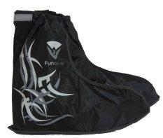 Funcover Jas Hujan Sepatu Sarung Sepatu Cover Shoes Anti Air - Hitam