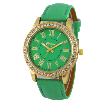 Geneva Gold Platinum Jam Tangan Wanita - Hijau - Kulit - Gnv GGP 0800 Green