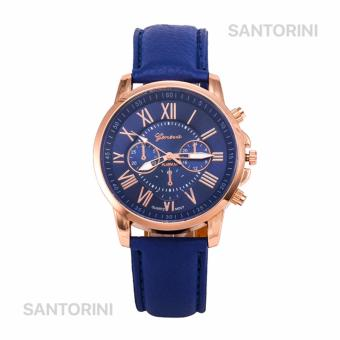 GENEVA Jam Tangan Modis Wanita Analog Fashion Women Analog Quartz Strap Wrist Watch - BLUE