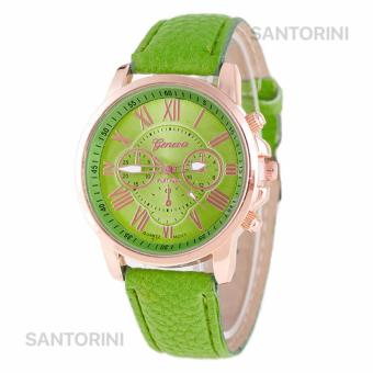 GENEVA Jam Tangan Modis Wanita Analog Fashion Women Analog Quartz Strap Wrist Watch - BRIGHT GREEN