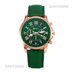 GENEVA Jam Tangan Modis Wanita Analog Fashion Women Analog Quartz Strap Wrist Watch - GREEN