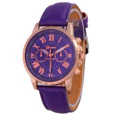 Geneva Leather Cecile Jam Tangan Wanita - Kulit - Ungu - Geneva GNV LC 0990 Purple