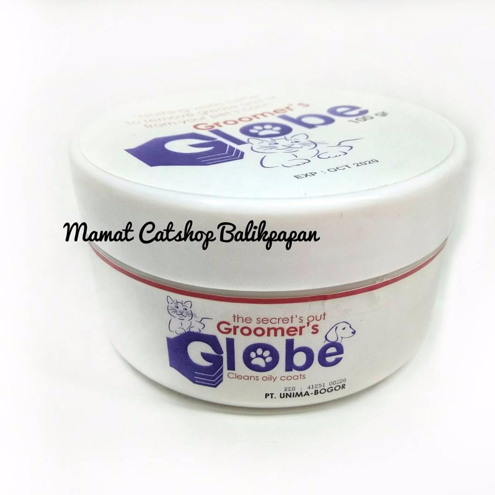 Globe Groomer penghilang minyak pada bulu hewan 100 gram
