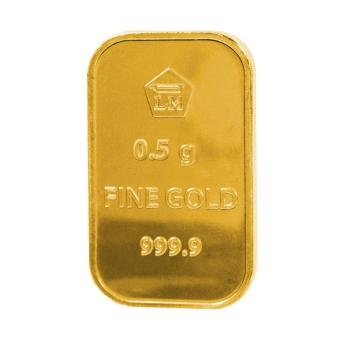 Gold Logam Mulia LM Sertifikat Asli Antam 0.5 Gram - Emas Batangan Logam Mulia - 24 Karat Sertifikat Resmi Antam