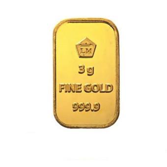Gold Logam Mulia LM Sertifikat Asli Antam 3 Gram - Emas Batangan Logam Mulia - 24 Karat Sertifikat Resmi Antam