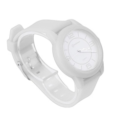 GOOD MINGRUI Creative Luxury Wrist Watch Rubber Strap QuartzWristWatch 8820 white(Not Specified)(OVERSEAS) - intl
