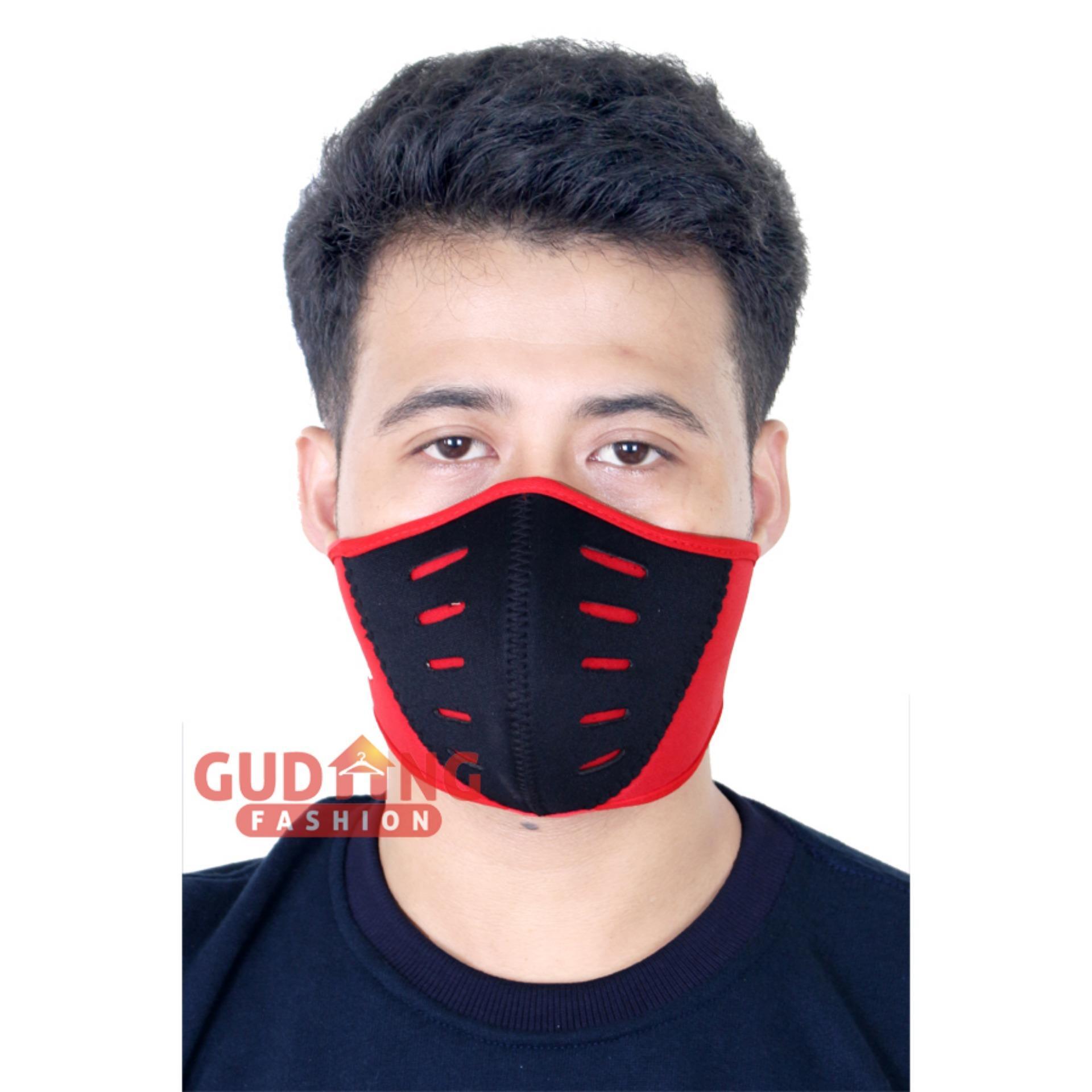 Anggaran Terbaik Gudang Fashion Masker Pengendara Sepeda Motor Rajamotor Perlengkapan Balaclava Full 3 M Dengan Hitam Nolan Merah
