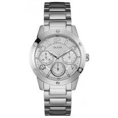 Guess - Jam Tangan Wanita - Silver-Putih - Stainless Steel - W0778L1