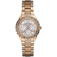 Guess U111L3 - Jam Tangan Wanita - Multifunction Dial - Rantai Rose Gold