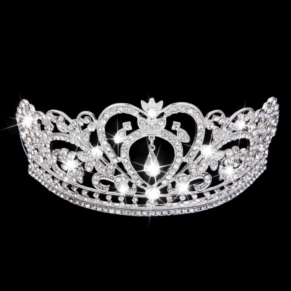 Halus Pernikahan Pengantin Payet Kristal Mahkota Tiara Bando .