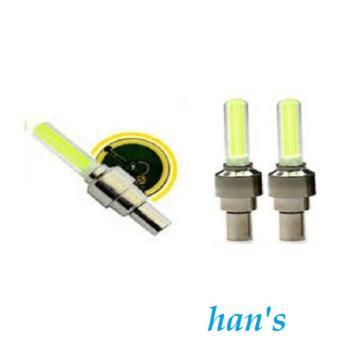 Perbandingan harga Han's Aksesoris - Tutup Pentil LED Motor Sudah Plus Baterai - Isi 2 Pcs - Yellow Terbaik Murah