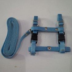 Harness H uk S + Leash Biru Muda untuk Kucing, Kelinci, Musang, Puppy Small breed