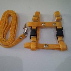 Harness H uk S + Leash Kuning Tua untuk Kucing, Kelinci, Musang, Puppy Small breed