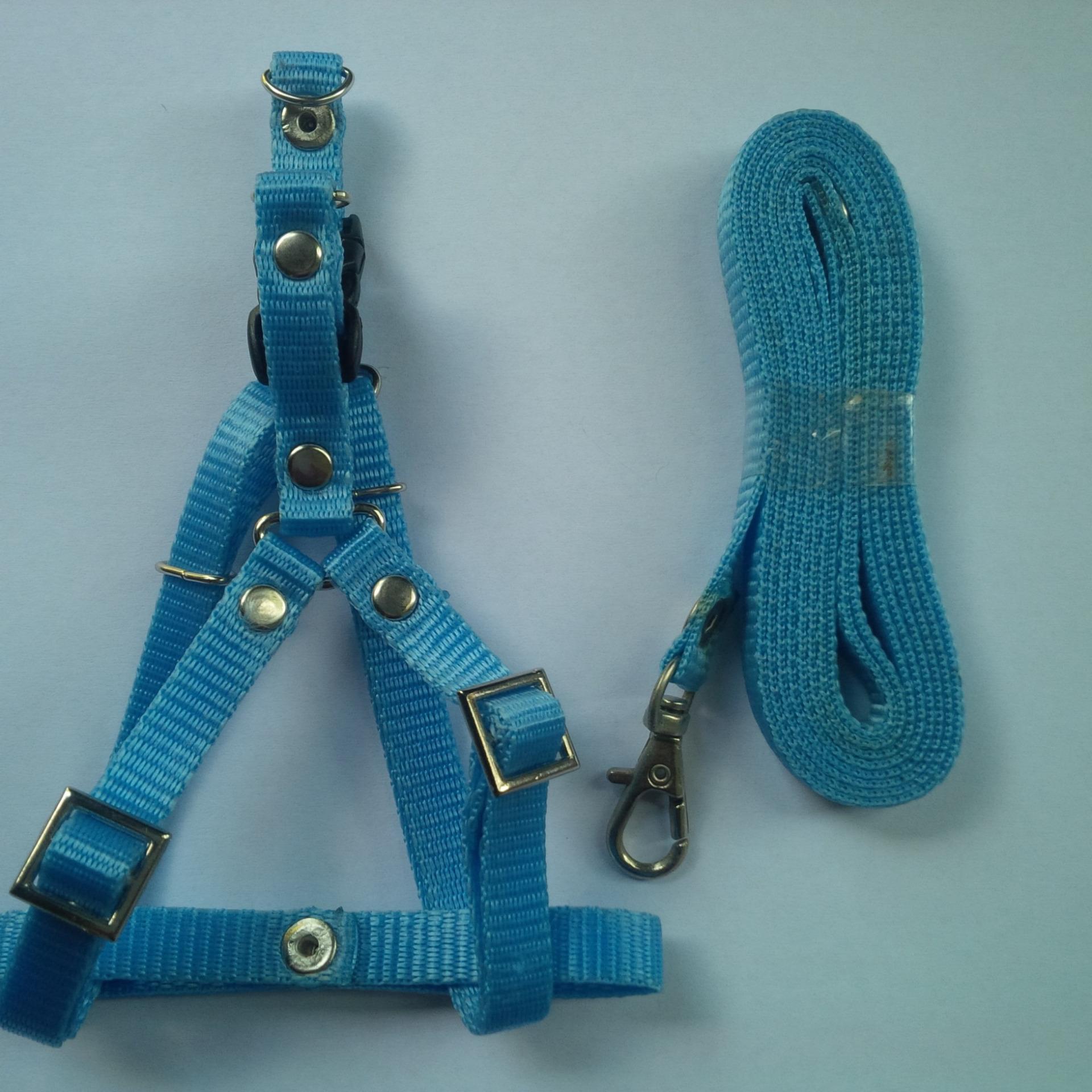 ... Harness Y uk S Leash Biru Muda untuk Kucing Kelinci Musang Puppy