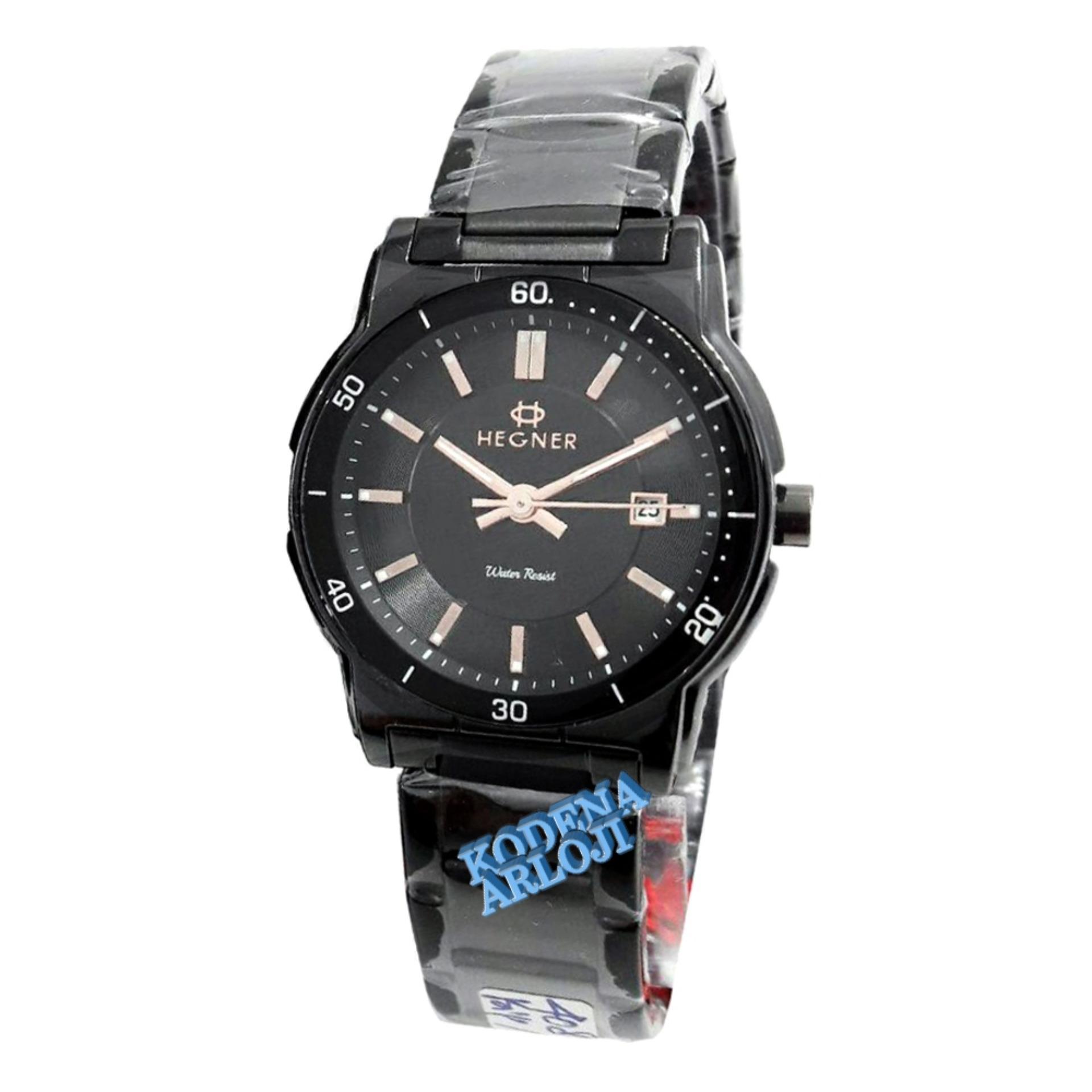 ... Hegner- H408L - Jam Tangan wanita- Stainless Steel - hitam putih ...