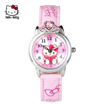 Hello Kitty anak perempuan berlian gadis jam tangan anak-anak jam tangan