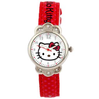 Gambar Hello Kitty lucu gadis KT sekolah dasar berlian jam tangan jam tangan