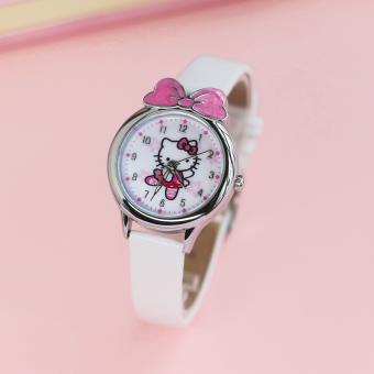 Terbaik Murah Hello Kitty lucu kupu-kupu simpul awal gadis jam tangan Pelacakan Harga