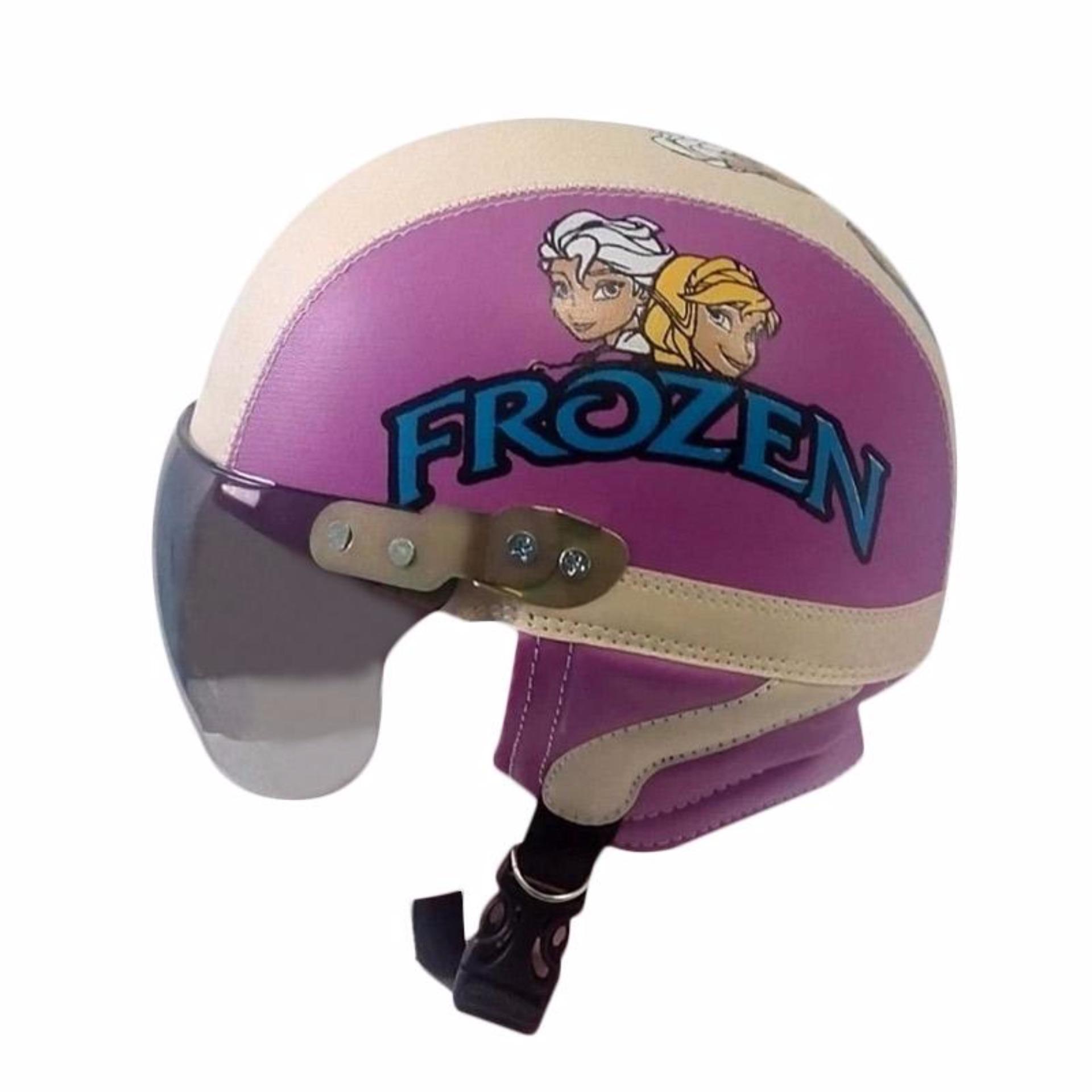 Anggaran Terbaik Helm Anak Lucu Karakter Frozen Usia 1 5 Tahun Kaca Riben Ungu