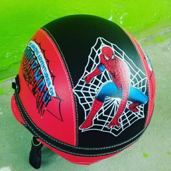 Cari Bandingkan Helm Anak Lucu Karakter Spiderman usia 1 - 5 Tahun + Kaca Riben - Merah/Hitam Harga Penawaran