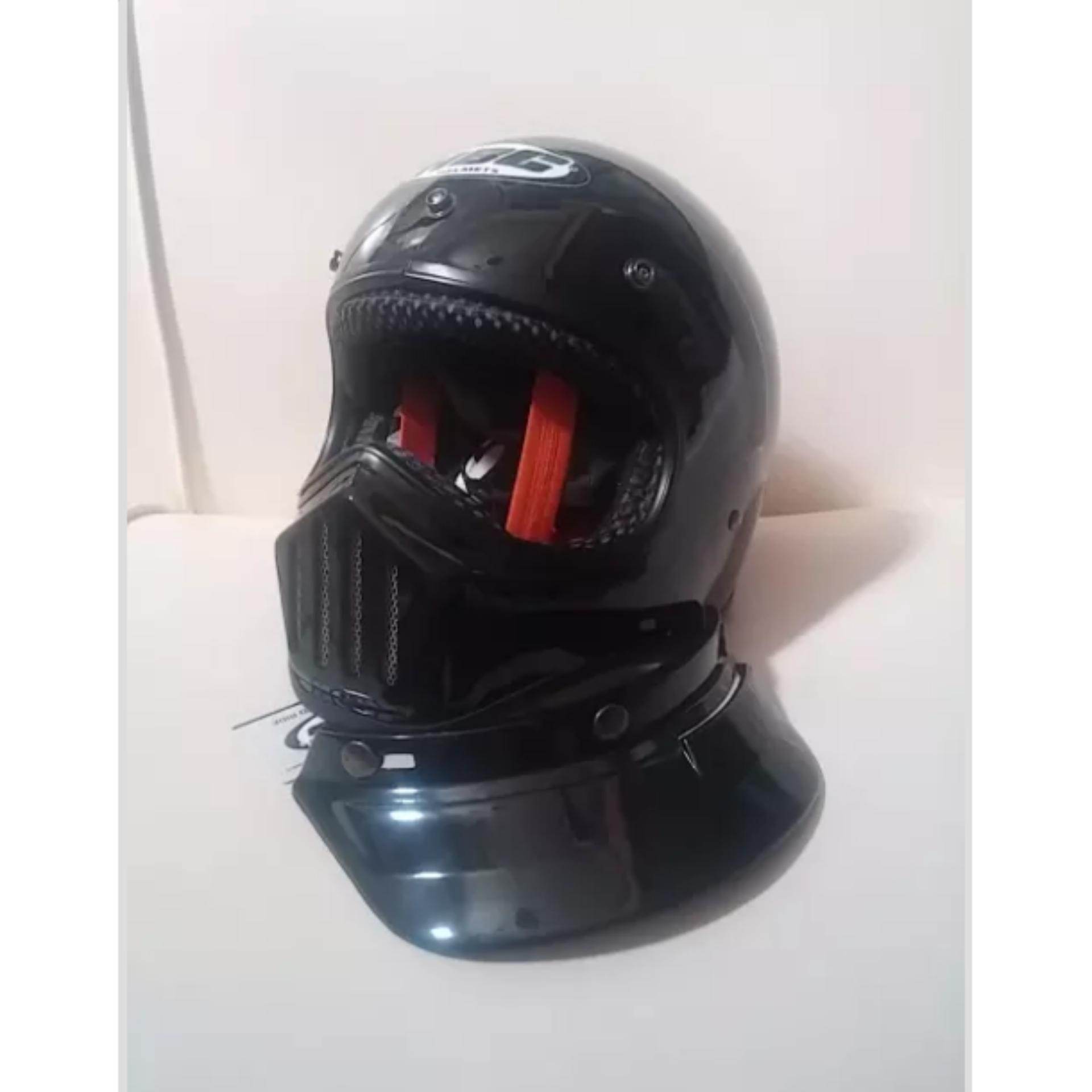 Helm Cakil Hbc Rust Dust Gading Motif Cream Size Ready S M L Xl Steve Legend Hitam Doff Glossy