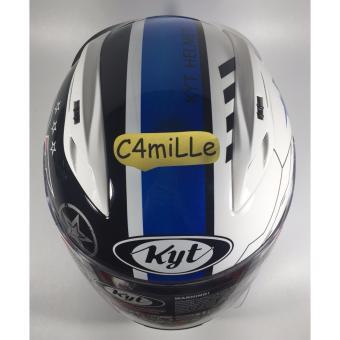 Helm Full Face KYT RC 7 / RC7 #11 white black blue .