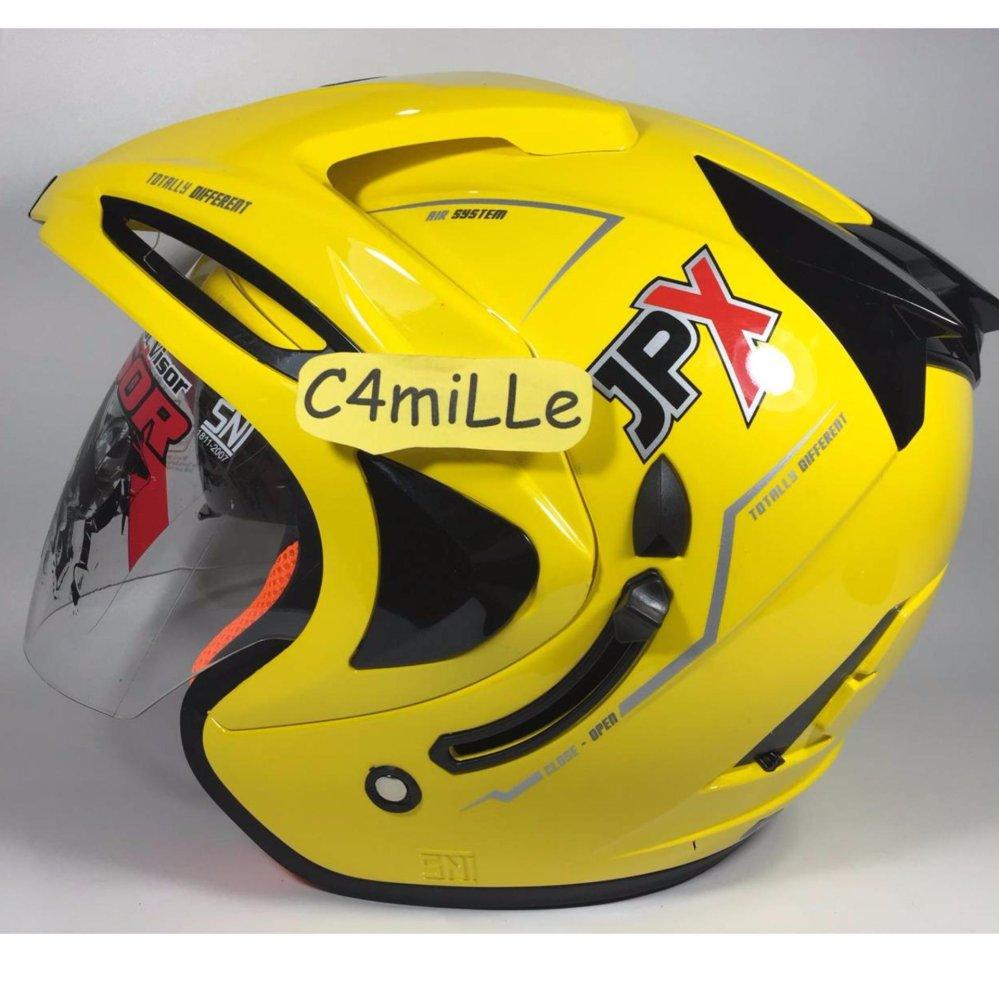 Snail Helm Modular Single Visor Ff991 Motif Kartun Daftar Harga Full Face Mx309 Motocross Skull Hitam Kilap Jpx Double Yellow Lemon Half