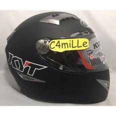 Helm KYT C5 Titanio Special Edition Solid Black Dop Full Face