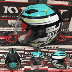 Helm KYT DJ Maru Black Blue