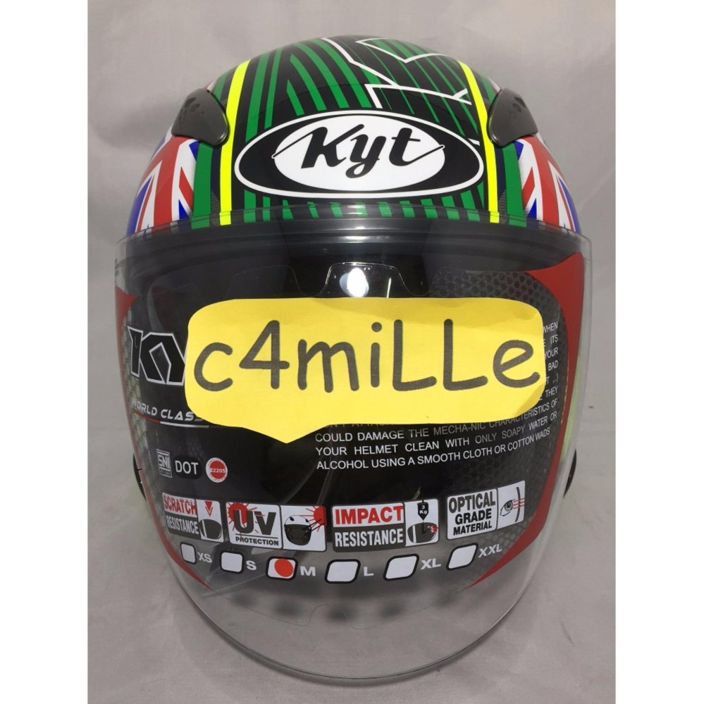 Helm Kyt R10 Philip Island Gp Rc Circuit Yellow Fluo Green Blue Full Race Aqua Marine Flat Visor Terbaru Source Galaxy Slide Motif Phillip Half Face Doublevisor