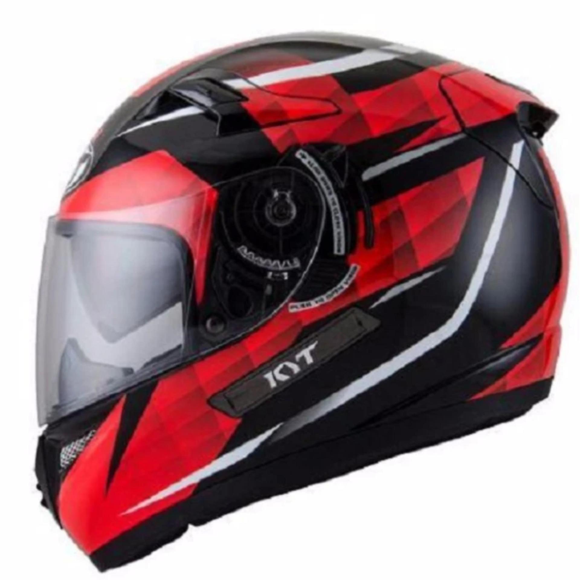 Helm KYT K2 Rider Diamond Black Red