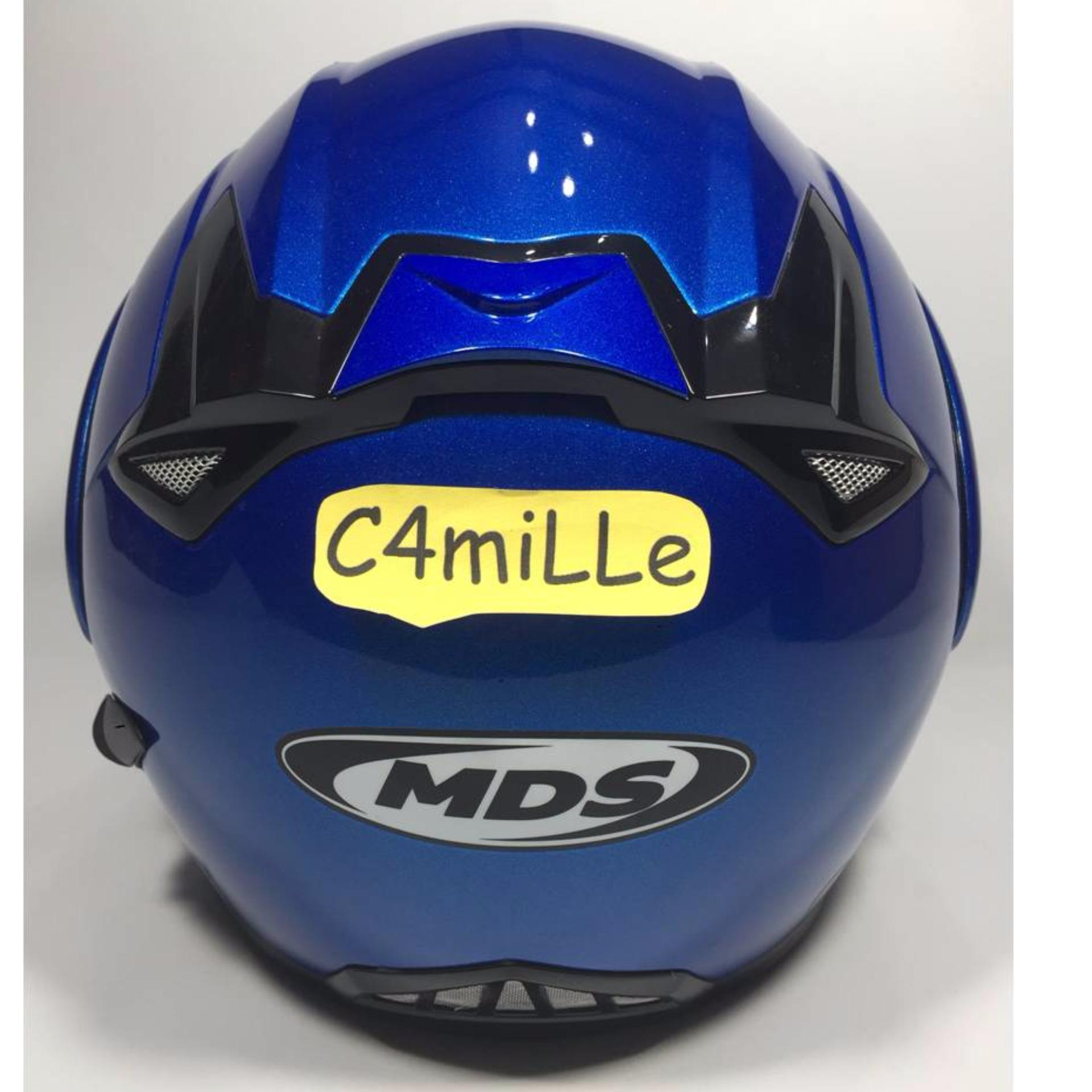HELM MDS PRO RIDER SOLID CY BLUE MODULAR FULL .