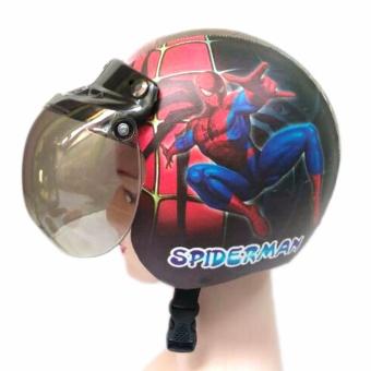 Gambar Helm Standart Bogo Anak Karakter Usia 3 7 Tahun Spiderman