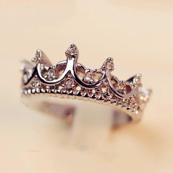 harga Hequ ring South Korea imported palace restoring ancient ways is the queen s temperament Woodwork crown The tail Rose Gold - intl Lazada.co.id