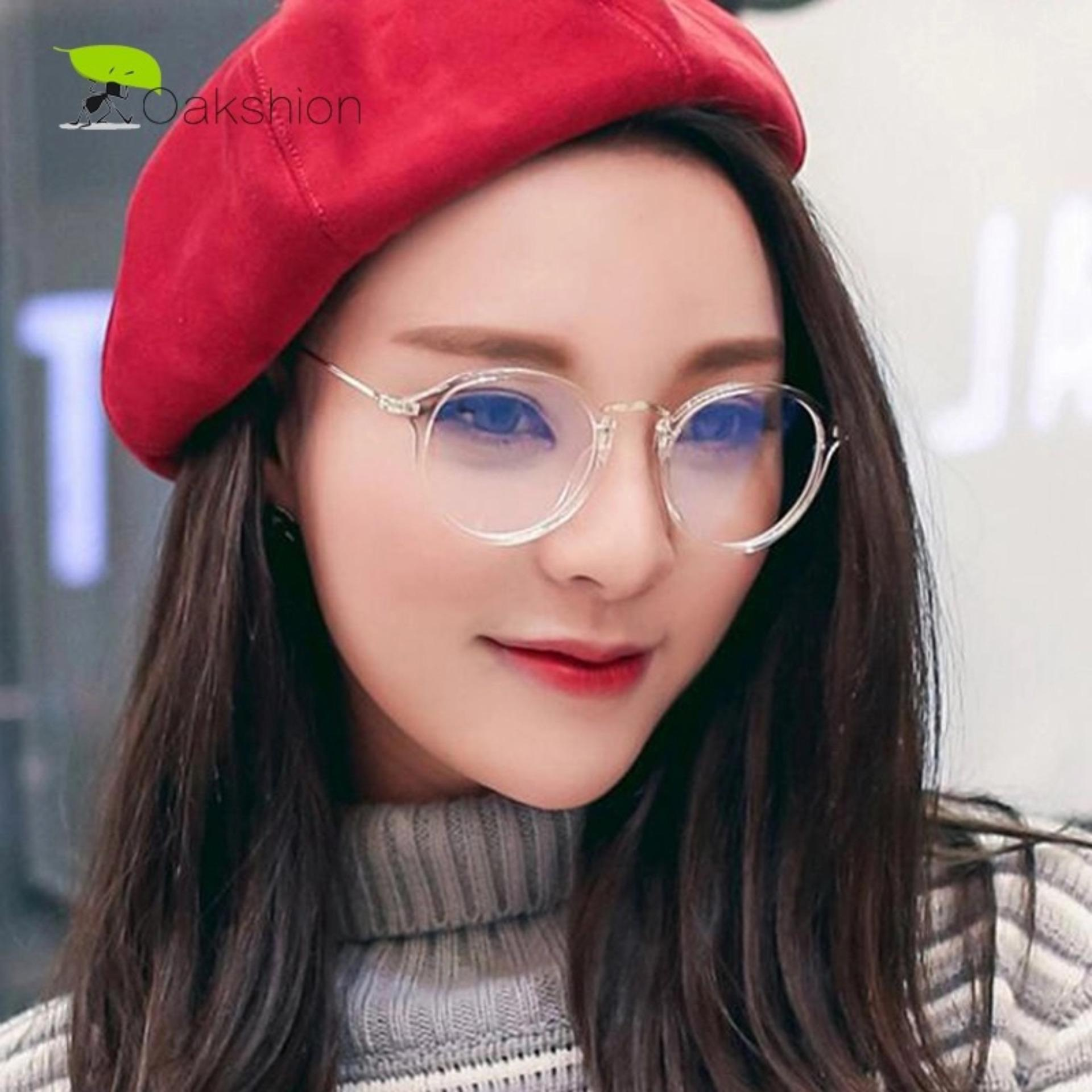 ... High Quality Charming Women s Round Clear Lens Glasses Metal Frame Nerd Eyeglass Spectacles 830CLEAR Kacamata