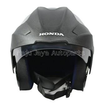 Honda Helm Half Face TRX-3 (Black Glossy) - Helm .