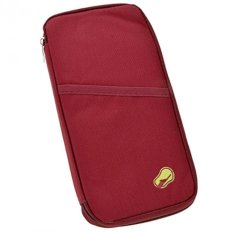 I-Grosir travel id holder / dompet pasport / pasport organizer - Merah Maroon