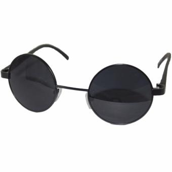 Fitur Baru Gaya Busana Wanita Sunglasses Round Lensa Kacamata Hitam Source · ID Sunglass Kacamata Bulat Round Pria Wanita Frame Hitam Lensa