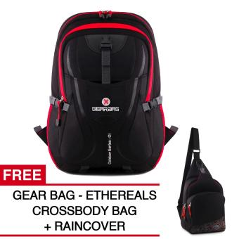 Gear Bag - Scorpion X87 Tas Laptop Backpack - Black Red + Raincover + FREE Ethereals