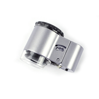 Mini 50X Microscope Loupe LED Magnifier + Currency Detecting - intl